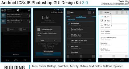 Android ICS/JB Photoshop GUI Design Kit