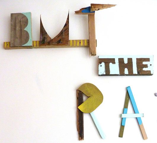 3D Typographic Work by Rob Walker