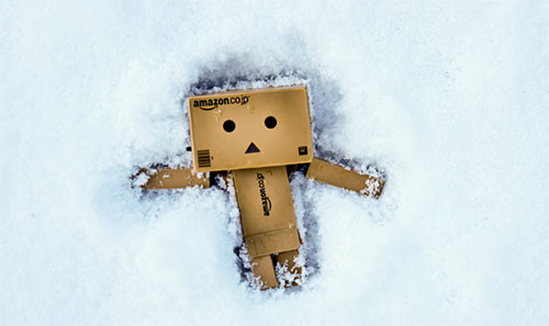 Danbo doing a Snowangel by Roberto Requejo