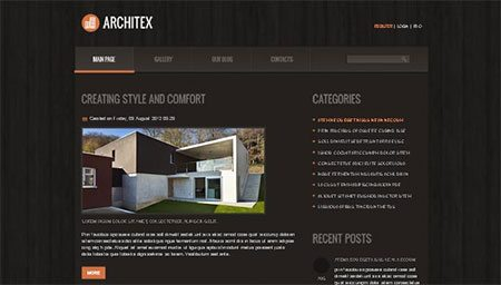 Solid Joomla Foundation for Architecture Site! Free Theme