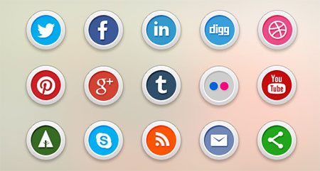 15 free social media icons