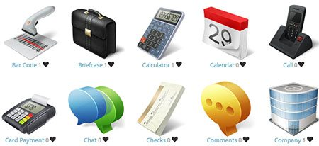 Ecommerce and Business Icon Set