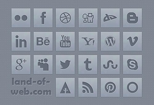preview Grey Social Icons Pack