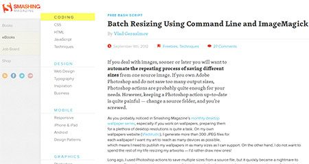 Batch Resizing Using Command Line and ImageMagick