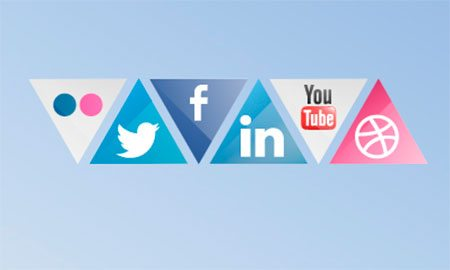 Download Triangle Social Icons by Will Hurley