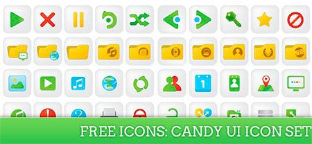 Candy UI Icon Set