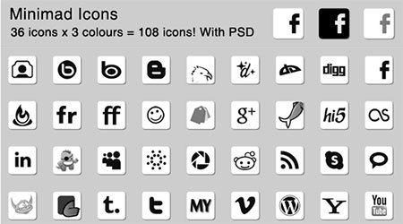 108 Minimad Icons