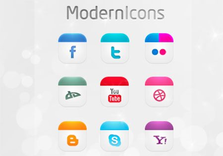 Modern Icons Set by dsquaredgfx