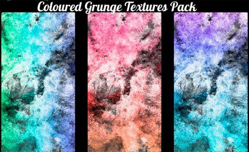 Coloured Grunge Textures Pack by AV-ModelingAndStock
