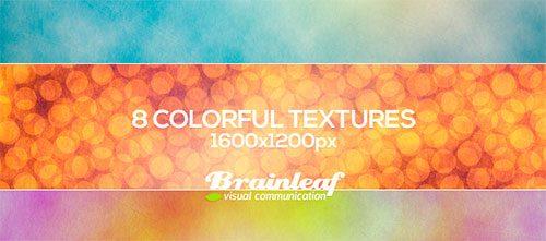 8 Colorful Gunge Textures by Ransie3