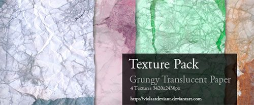Texture Pack - Grungy Transculent Paper by ViolaAtDeviant