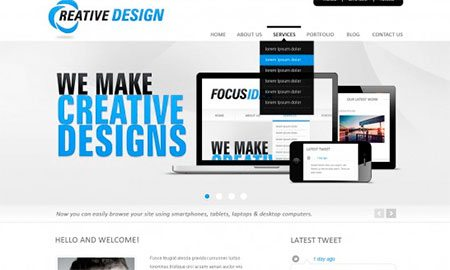 Creative PSD Template for Landing Page
