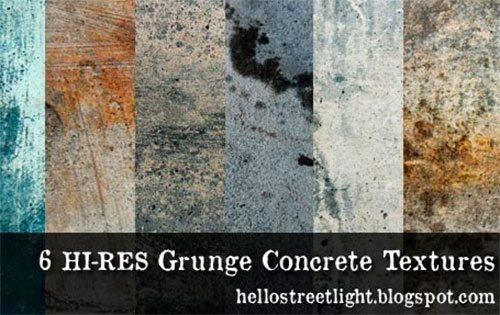 6 Free Hi-res Grunge Concrete Textures by patsulok