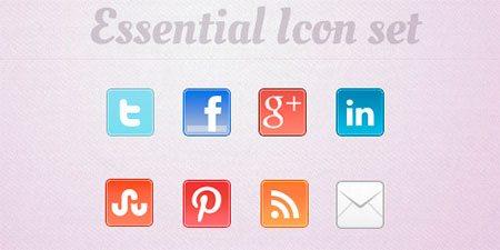 Essential Social Media Icon Set
