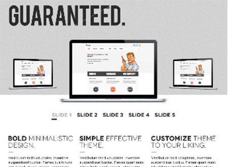 Bold Homepage PSD