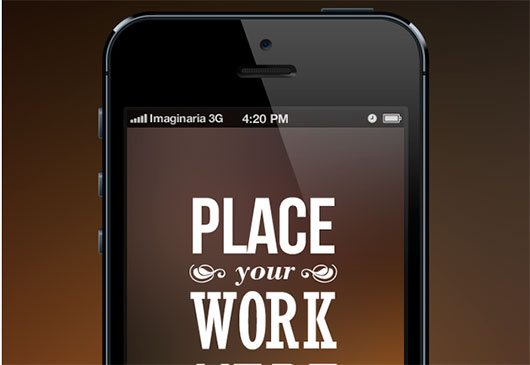iPhone 5 PSD Mockup by Imaginaria Studio