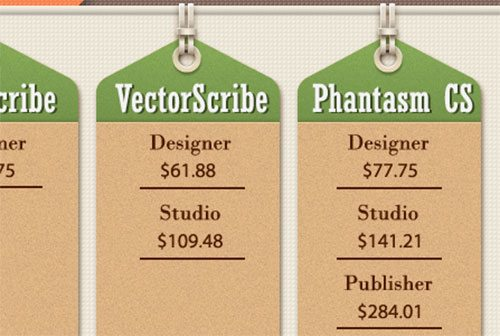 How to Create Pricing Tabs in Retro Style