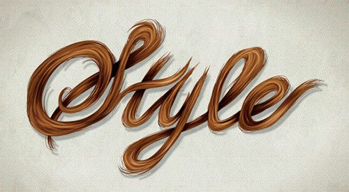 Create a Stylish, Vector Hair Typography
