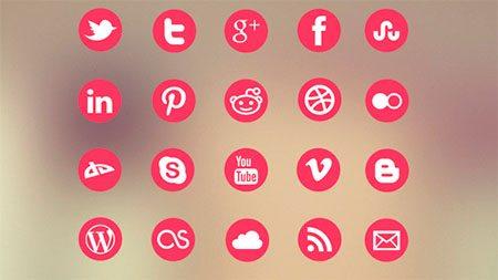 Metro Social Media Icon Set