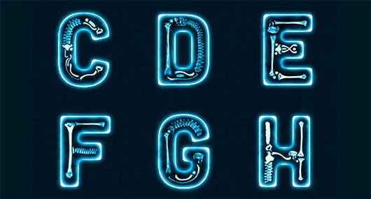 The X-Ray Font by Lucas Iacono