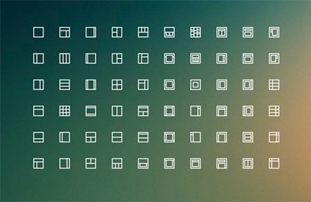 Layouts icons freebie by Ales Nesetril