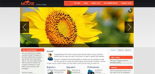 Mouse - Joomla 2.5 and 3.0 Template