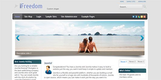 iFreedom - Joomla 2.5 template with Slideshow