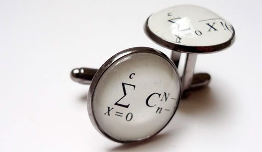 Maths cufflinks