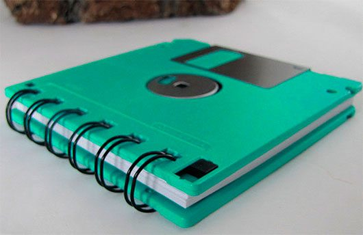 Recycled Geek Gear Blank Floppy Disk Mini Notebook