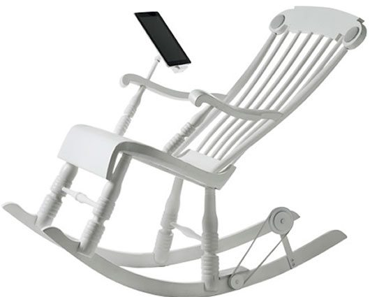Stylish Rocking Chair Charges Your iDevice