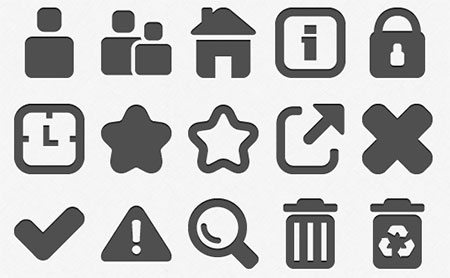 Pictonic Cube - Icon font