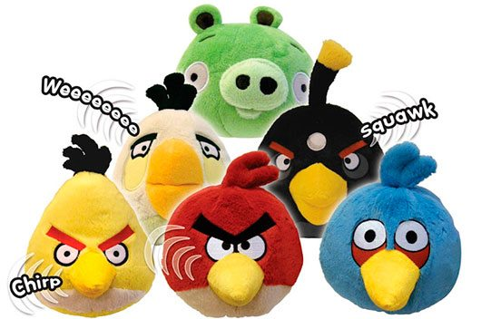 "Angry Birds 5"" Plush with sound"