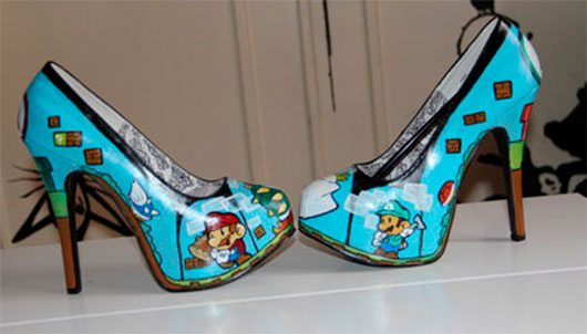 Mario & luigi paper game shoes heels