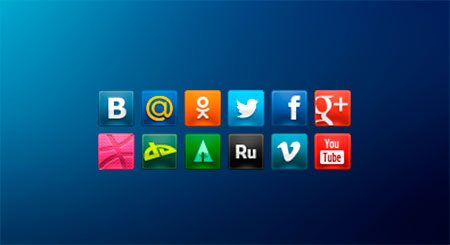 Social Media Icons by Denis Abdullin