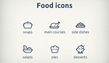Foodicons by Sergey Zolotnikov