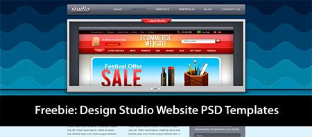Studio Website PSD Templates