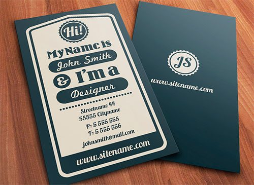 Vintage typographic business card by nexion