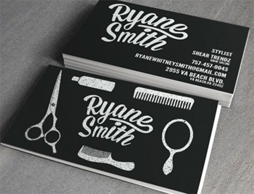 Stylist Business Cards by Hoss Halliburton