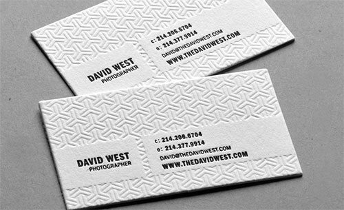 David West Photography Business Card by Taste of Ink Studios