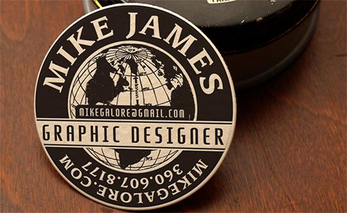 Shoe Polish Business Card Design by Print&Grain