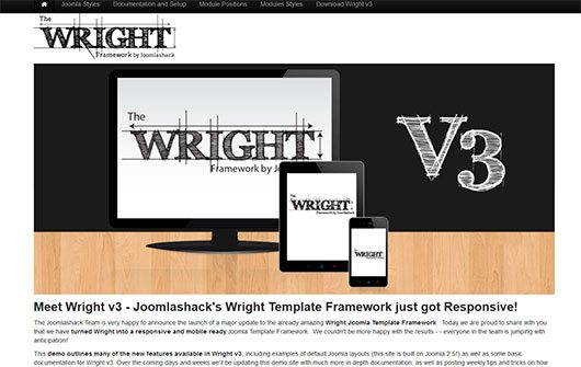 Wright Joomla 2.5 Template2