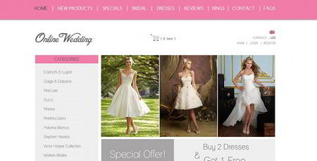 Wedding Web Layout