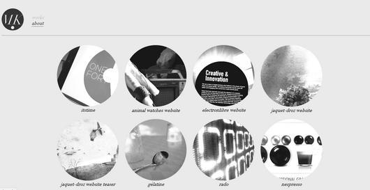 minimalist web layout