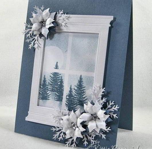 Blue Poinsettia