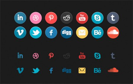 'Old School' Social Icon Set by ben dunn