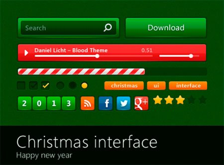 Christmas Interface by Denis