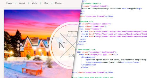 How to Convert Mini Portfolio from PSD to HTML5/CSS3 website