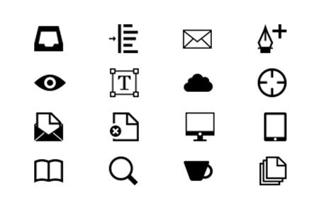 Icon Font WIP by Chris Kelley