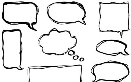 Hand-Drawn Vector Speech Bubbles