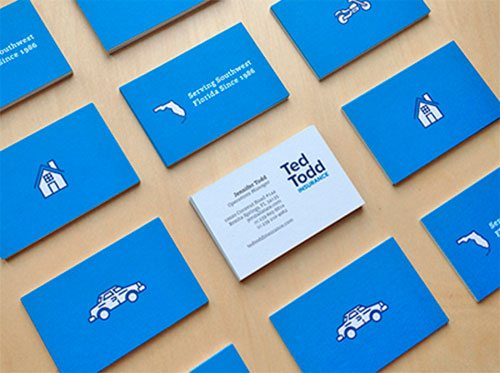 Ted Todd Business Cards by Bill S Kenney